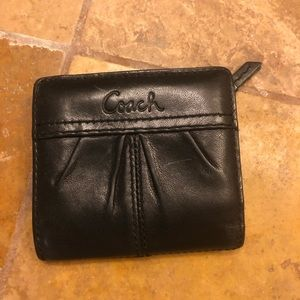 Coach Black Single Fold Wallet